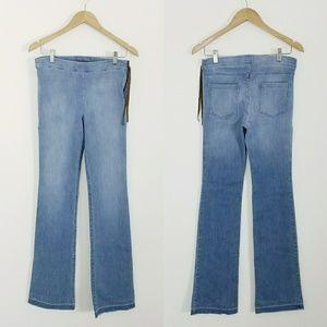 Ella Moss Wide Leg Boho Chambray Pants